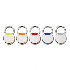 PORTE-CLES METAL CHROME / BLEU
